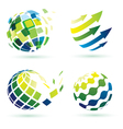 abstract globe icons vector image