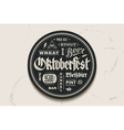 Coaster beer with lettering for Oktoberfest vector image