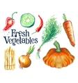 gardening logo design template fresh food vector image