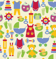 Newborn baby stuff pattern - vector image