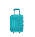 realistic polycarbonate suitcase baggage for vector image