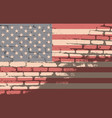 usa flag american vector image