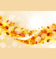 Flying leaves vector image vector image