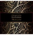 Invitation decorative golds 09 vector image
