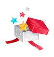 icon gift box vector image vector image