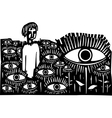 Field of Eyes vector image vector image