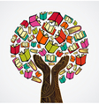 Concept design books tree vector image