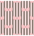 Tile decoration wallpaper with pink pastel bows vector image