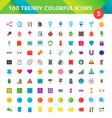 100 Universal Icons Set 3 vector image