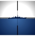 Ship in sight periscope vector image