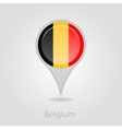 Belgium flag pin map icon vector image