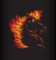 Horse fire symbol vector image