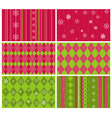 christmas pattern background vector image vector image