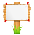 wooden board with attached paper vector image vector image