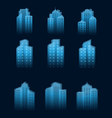a set of houses icons vector image