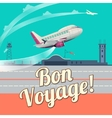 Airplane take off flat vector image