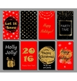 Christmas and New Year handdrawn cards collection vector image