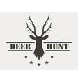 Deer hunt Hunting club logo in vintage style vector image