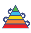 pyramid of growing vector image