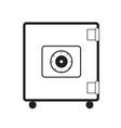 safe icon on white background safe symbol flat vector image
