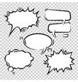 set of comic bubbles empty vector image
