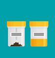 test in a plastic jar flat design vector image