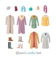 Women s Winter Look Concept in Flat Design vector image