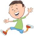 boy character cartoon vector image