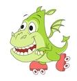 Little dragon on skates 2 vector image