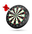 dartboard with dart on white background vector image vector image