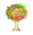 Abstract tree from colorful pieces vector image vector image