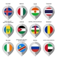 Marker from paper with flag for map - set sixth vector image