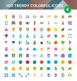 100 Universal Icons Set 4 vector image