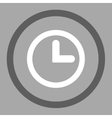 Clock flat dark gray and white colors rounded vector image