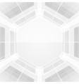 abstract hexagonal wire vector image vector image