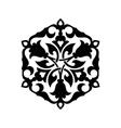Abstract circle floral ornamental decor vector image
