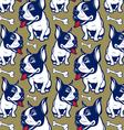 background cartoon style french bulldog smile vector image