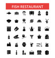 fish restaurant barbeque thin line vector image