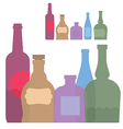 isolated set of colorful bottle vector image