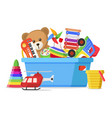kids toys in a box vector image