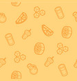lemonade outline isometric pattern vector image