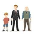 Man age progress vector image