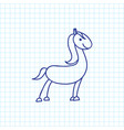 of animal symbol on horse vector image