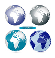 Paper World Map vector image