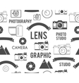 Photography symbols elements seamless pattern vector image