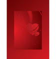 red card with heart valentines day vector image