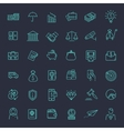 Thin line web icon set - money finance payments vector image