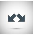 Two arrow vector image