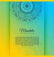 vibrant decorative mandala card invitation vector image