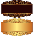 gold and black background vector image vector image